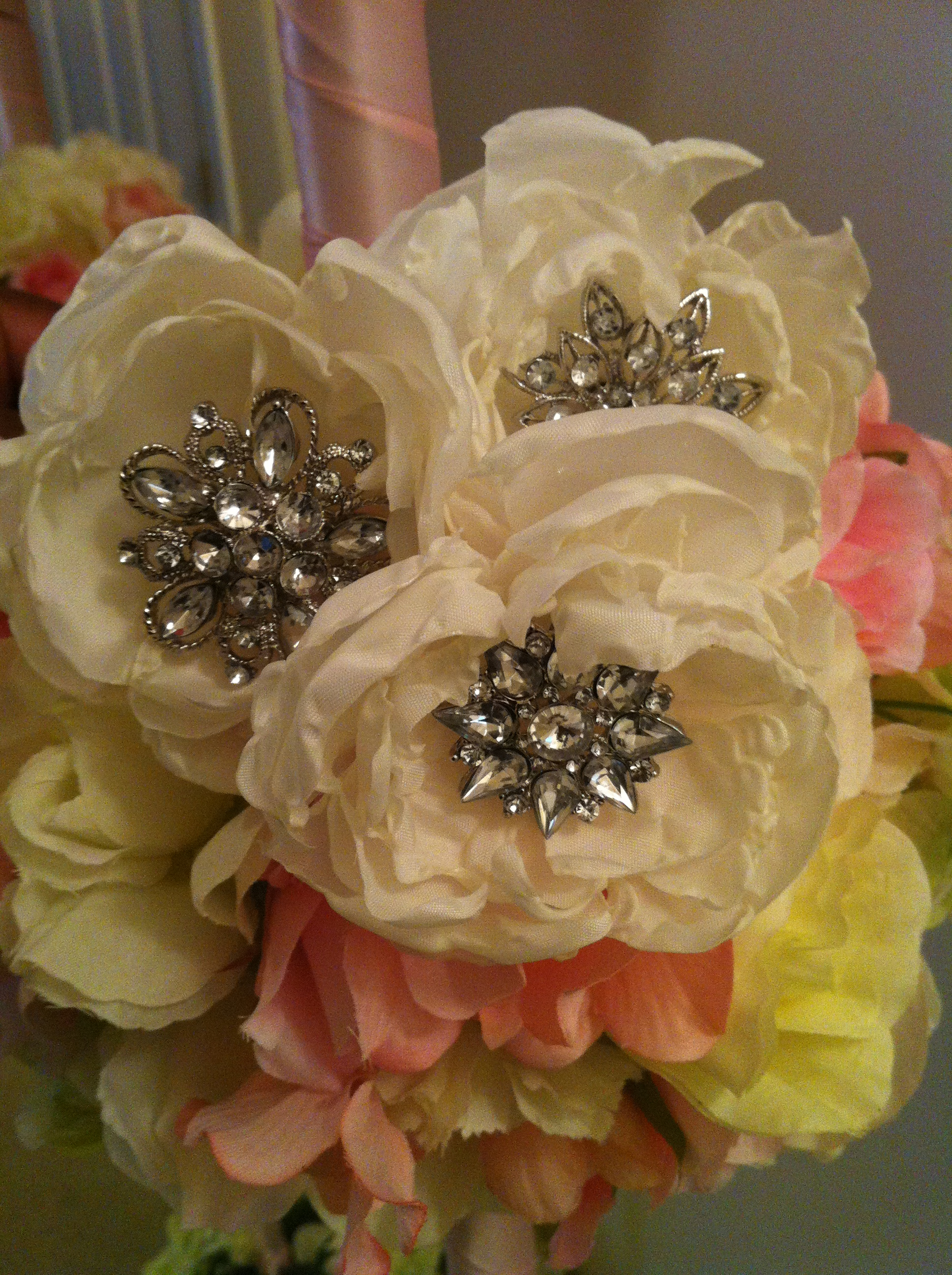 My DIY Fabric Flowers for Use in My Brooch Bouquets | Weddingbee Photo ...