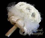 bling brooch broach vintage classic unique forever bouquet bridal