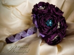 bling brooch broach vintage classic unique forever bouquet bridal #broochbeautiful antique eggplant