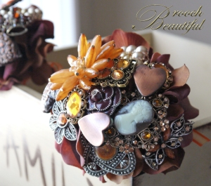 Petite Bouquet 3-5 inches across. Perfect for flower girls and bridesmaids. Prices from $120.