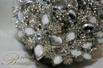 platinum silver brooch bouquet 6