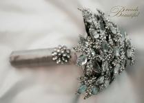 le #broochbeautiful holiday chritsmas grey bling glam rhinestone crystal wedding bride unique classic vintage