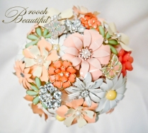 Coral Mint brooch bouquet web8