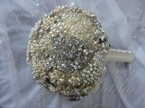 Silver Pearl Brooch Bouquet 3