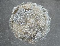 Silver Pearl Brooch Bouquet 9