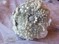 Silver Star Pearl Brooch Bouquet 3