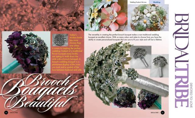 Brooch Beautiful inside Bridal Tribe Magazine