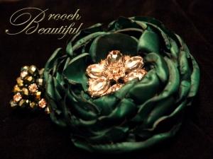 Emerald Bling Wrist Corsage 1