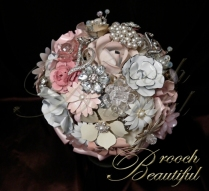 Vintage Pink Brooch bouquet web2