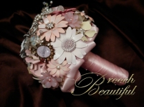 Vintage Pink Brooch bouquet web4