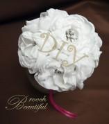 DIY handmade fabric peony bouquet