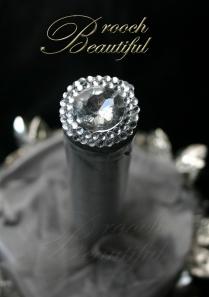 Ultra Platinum Silver Bling Brooch Bouquet 9