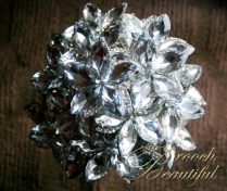 platinum wedding, platinum bouquet #BroochBeautiful, #wedding #broochbouquet #platinumwedding #unique #bling #bride #overthetop #crystalbouquet