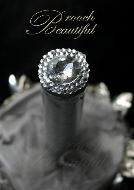 ultra platinum silver bling brooch bouquet web12