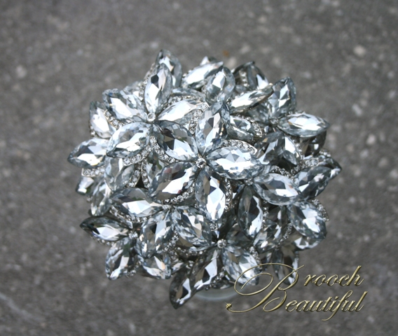 ultra platinum silver bling brooch bouquet web2
