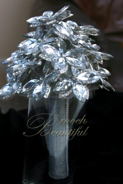 ultra platinum silver bling brooch bouquet web3