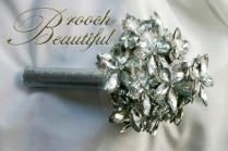 ultra platinum silver bling brooch bouquet web5