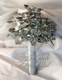 ultra platinum silver bling brooch bouquet web8