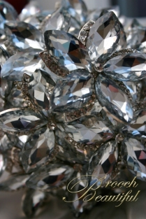 ultra platinum silver bling brooch bouquet web9