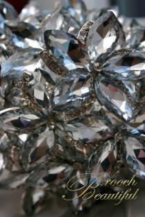 ultra platinum silver bling brooch bouquet web9
