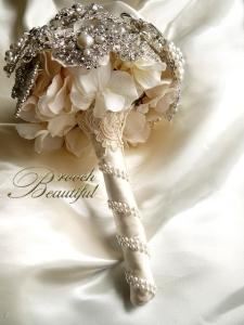 pearl brooch bouquet