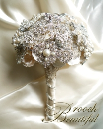 pearl bling brooch bouquet web3